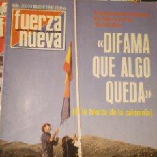Coleccionismo de Revistas y Periódicos: FUERZA NUEVA 711 AGOSTO 1980 FALANGE FRANQUISMO. Lote 143337262