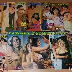Coleccionismo de Revistas y Periódicos: LOTE 11 REVISTAS FOTOSEX. Lote 143499970