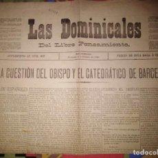 Coleccionismo de Revistas y Periódicos: LAS DOMINICALES DEL LIBRE PENSAMIENTO 1895 N 687 SEMANARIO LIBREPENSADOR RARO. Lote 143614358
