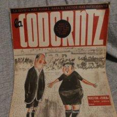 Coleccionismo de Revistas y Periódicos: REVISTA LA CODORNIZ, NUESTRA FURIA N°646- 4 ABRIL 1954.. Lote 143631914