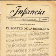 Coleccionismo de Revistas y Periódicos: REVISTA 1911: INFANCIA Nº 38. Lote 143705462
