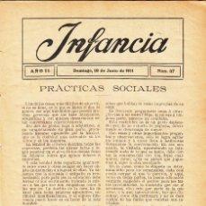 Coleccionismo de Revistas y Periódicos: REVISTA 1911: INFANCIA Nº 37. Lote 143706290