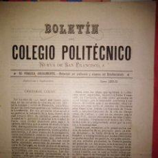 Coleccionismo de Revistas y Periódicos: BOLETIN COLEGIO POLITECNICO BARCELONA CURSO 1892-93 RARO. Lote 143729638