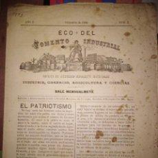 Coleccionismo de Revistas y Periódicos: ECO DEL FOMENTO INDUSTRIAL MENSUAL SOCIEDAD DE MERCADERS DE REGALOS A LOS SOCIOS 1893 N 2. Lote 143730606