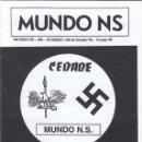 Coleccionismo de Revistas y Periódicos: MUNDO NS NÚMERO 100 REVISTA NAZI CEDADE RAMÓN BAU. Lote 143776822