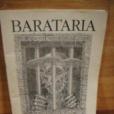 Coleccionismo de Revistas y Periódicos: BARATARIA Nº 1 - ASOCIACION ARAGONESA DE AMIGOS DEL LIBRO - AÑO 1992. Lote 143892074