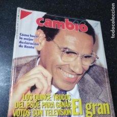 Coleccionismo de Revistas y Periódicos: REVISTA. CAMB16. 16 DE OCTUBRE DE 1989. Nº 933. COMO HACER LA MEJOR DECLARACION DE RENTA. LEER.. Lote 143941374
