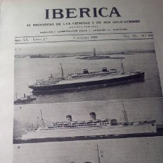 Coleccionismo de Revistas y Periódicos: IBERICA Nº993 1933 LAS PIRITAS EN ESPAÑA. Lote 144022722