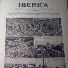 Coleccionismo de Revistas y Periódicos: IBERICA Nº994 1933 LAS PIRITAS EN ESPAÑA . Lote 144024866