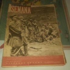 Coleccionismo de Revistas y Periódicos: REVISTA SEMANA NÚMERO 55 DE 1941. VOLUNTARIOS ALEMANES EN ÁFRICA.. Lote 144147612