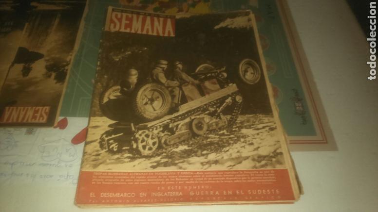 REVISTA SEMANA NÚMERO 60 DE 1941. LAS TROPAS BLINDADAS ALEMANAS EN YUGOSLAVIA Y GRECIA. (Coleccionismo - Revistas y Periódicos Modernos (a partir de 1.940) - Otros)