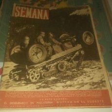 Coleccionismo de Revistas y Periódicos: REVISTA SEMANA NÚMERO 60 DE 1941. LAS TROPAS BLINDADAS ALEMANAS EN YUGOSLAVIA Y GRECIA.. Lote 144148368