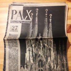Coleccionismo de Revistas y Periódicos: 7 EJEMPLARES PAX DIARIO DEL CONGRESO EUCARISTICO INTERNACIONAL DE BARCELONA 1952. Lote 144247597