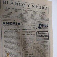 Coleccionismo de Revistas y Periódicos: BLANCO Y NEGRO REVISTA ILUSTRADA Nº 2234 - 22-ABRIL- 1934. Lote 144277318