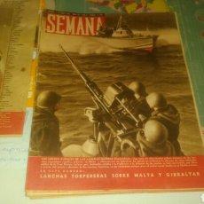 Coleccionismo de Revistas y Periódicos: SEMANA 1941. REVISTA DE 7 DE OCTUBRE NÚMERO 85. LANCHAS RÁPIDAS ITALIANAS.. Lote 144336266