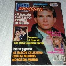 Coleccionismo de Revistas y Periódicos: REVISTA DE TELE INDISCRETA NÚMERO 75 AÑO 1986 COLECCIONABLE DINASTÍA LOS RICOS TAMBIÉN LLORAN BASKET. Lote 144336494