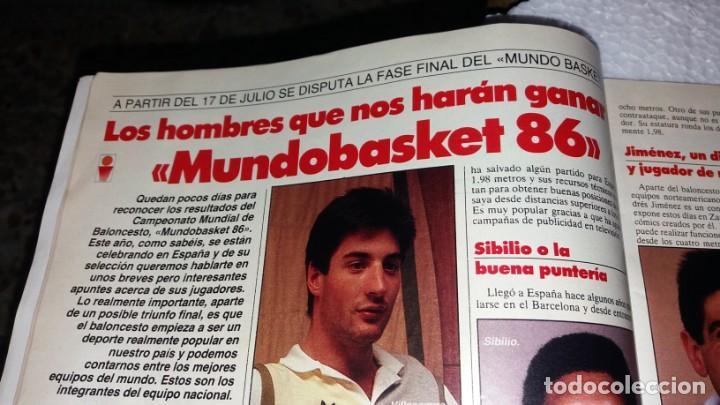 Coleccionismo de Revistas y Periódicos: Revista de Tele indiscreta Número 75 año 1986 coleccionable DINASTÍA los ricos también lloran basket - Foto 5 - 144336494
