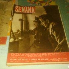 Coleccionismo de Revistas y Periódicos: REVISTA SEMANA DE 11 DE NOVIEMBRE DE 1941, NÚMERO 90. GENERAL MUÑOZ GRANDES EN PORTADA.. Lote 144337414