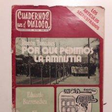 Coleccionismo de Revistas y Periódicos: CUADERNOS PARA EL DIALOGO FEBRERO 1976.DEBATE SOBRE EL NUEVO MUSEO DE ARTE CONTEMPORANEO.E. GALEANO. Lote 144393218