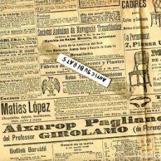 Coleccionismo de Revistas y Periódicos: DIARI ANY 1906 SANT MARTI SARROCA MOBLES LA PERMANENT JONCH ESMALTATS CHOCOLATE MATIAS LOPEZ . Lote 144447502