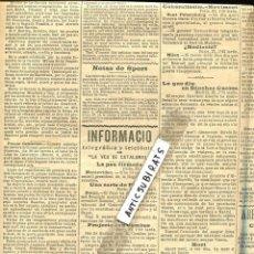 Coleccionismo de Revistas y Periódicos: DIARI ANY 1904 FUTBOL RCD CLUB ESPAÑOL SPORTSMEN'S INTERNACIONAL CATALAN CLUBS DE BARCELONA. Lote 144515506