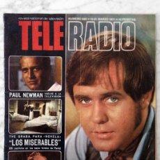 Coleccionismo de Revistas y Periódicos: TELE-RADIO - 1971 - EL GRAN CHAPARRAL, SHIRLEY BASSEY, LOS MISERABLES, ELIANA PITTMAN, PAUL NEWMAN. Lote 96582615