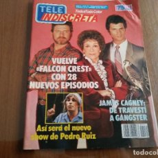 Coleccionismo de Revistas y Periódicos: REVISTA TELE INDISCRETA NUMERO 61 AÑO 1986 COLECCIONABLE DINASTIA ALICIA SANCHEZ. Lote 144546410