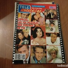Coleccionismo de Revistas y Periódicos: REVISTA TELE INDISCRETA NUMERO 50 AÑO 1986 COLECCIONABLE DINASTIA COMICS EQUIPO A . Lote 144565606