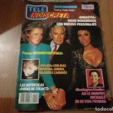 Coleccionismo de Revistas y Periódicos: REVISTA TELE INDISCRETA NUMERO 88 AÑO 1986 PÓSTER REMINGTON STEELE TRAVIATA CANTANTE ALASKA MUSICA . Lote 144566838