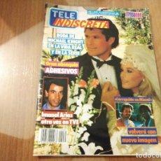 Coleccionismo de Revistas y Periódicos: REVISTA TELE INDISCRETA NUMERO 85 AÑO 1986 GRETA GARBO COLECCIONABLE FALCON GREST . Lote 144567802