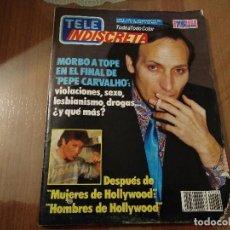 Coleccionismo de Revistas y Periódicos: REVISTA TELE INDISCRETA NUMERO 60 AÑO 1986 COLECCIONABLE DINASTIA ALFREDO LANDA . Lote 144569850