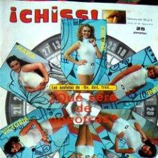 Coleccionismo de Revistas y Periódicos: REVISTA CHISS / UN DOS TRES, ANGELA CARRASCO, SUSANA ESTRADA, MAYRA GOMEZ KEMP. Lote 144664446