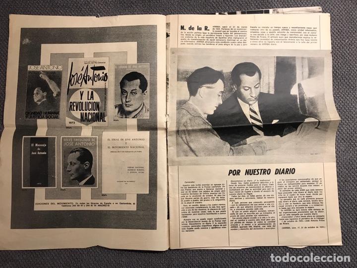Coleccionismo de Revistas y Periódicos: ARRIBA. Diario del Movimiento. FALANGE (Viernes, 29 de Marzo de 1974) - Foto 2 - 144797609