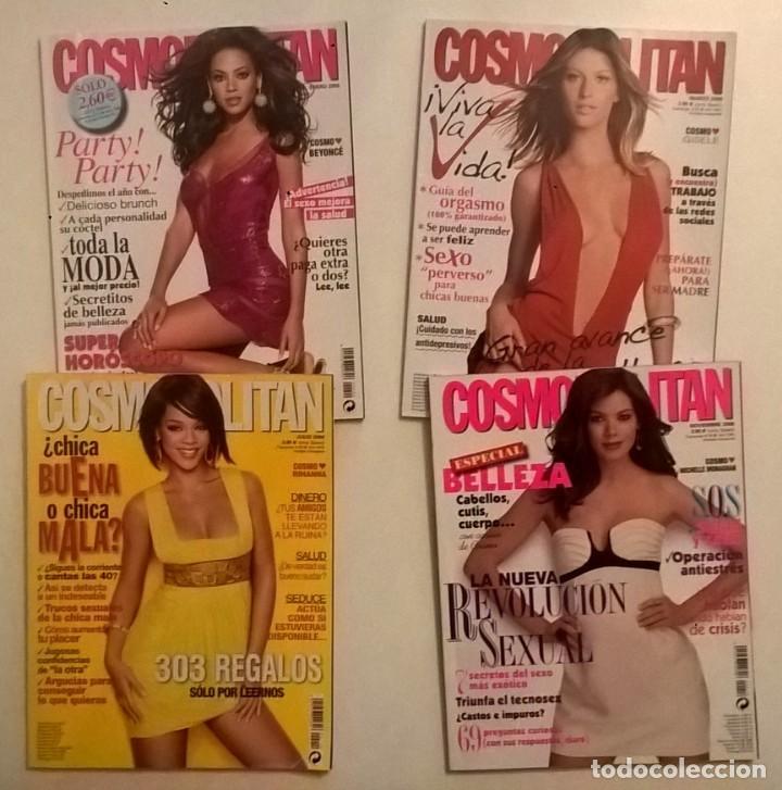LOTE DE 4 REVISTAS COSMOPOLITAN - AÑOS 2008 Y 2009 (Coleccionismo - Revistas y Periódicos Modernos (a partir de 1.940) - Otros)