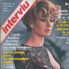 Coleccionismo de Revistas y Periódicos: INTERVIU NUMERO 0095: EDWIGE FENECH, PIEL DE PURPURINA. Lote 144957644