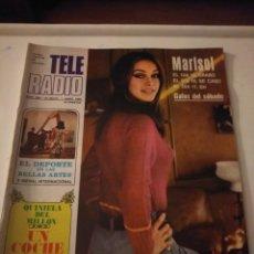 Coleccionismo de Revistas y Periódicos: REVISTA TELE RADIO N'596(MARISOL) JUNIO 1969. Lote 144998229