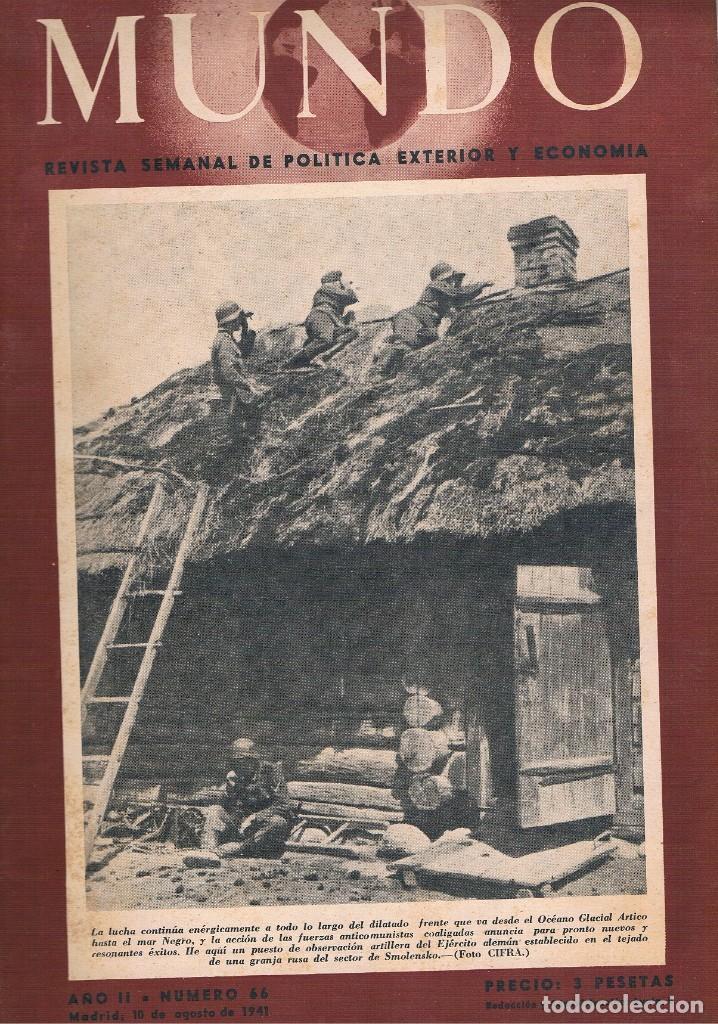 REVISTA EL MUNDO NÚMERO 66 VER EXPLICACIÓN DE FOTOGRAFÍAS (Coleccionismo - Revistas y Periódicos Modernos (a partir de 1.940) - Otros)