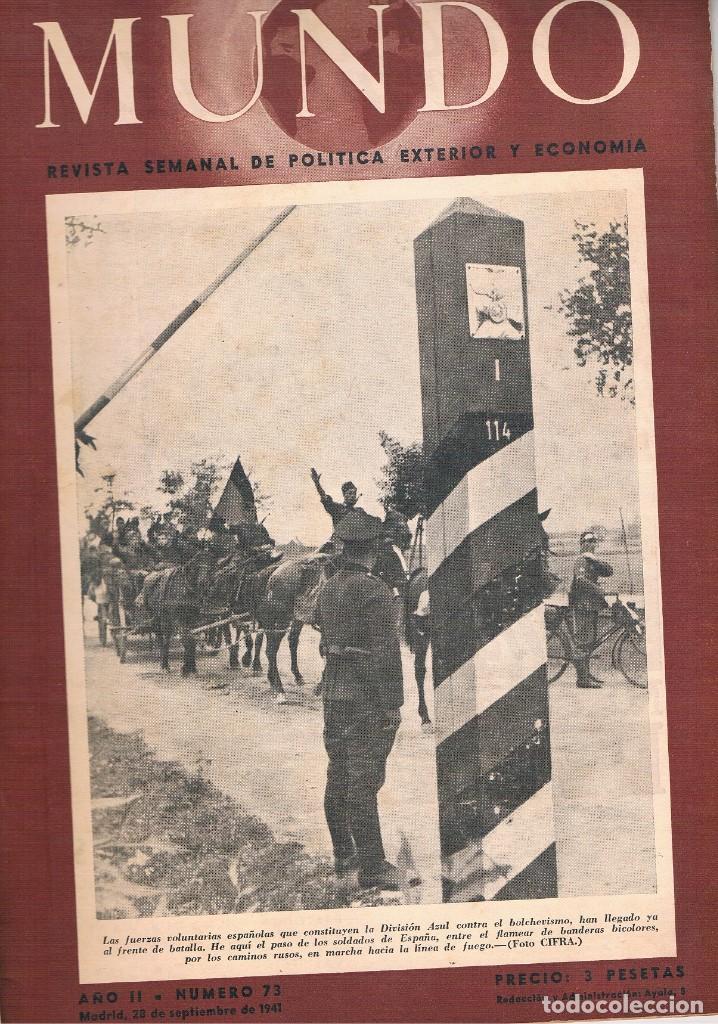 REVISTA EL MUNDO NÚMERO 73 VER EXPLICACIÓN DE FOTOGRAFÍAS (Coleccionismo - Revistas y Periódicos Modernos (a partir de 1.940) - Otros)