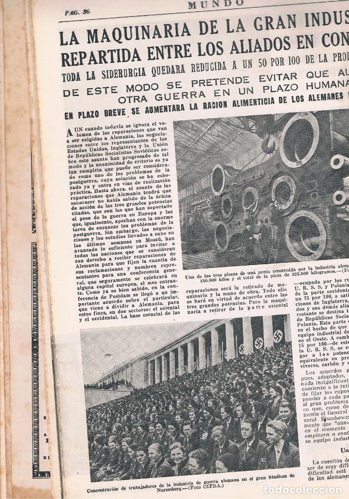 Coleccionismo de Revistas y Periódicos: REVISTA EL MUNDO NÚMERO 279 VER EXPLICACIÓN DE FOTOGRAFÍAS - Foto 4 - 145017550