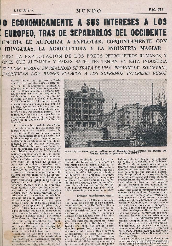 Coleccionismo de Revistas y Periódicos: REVISTA EL MUNDO NÚMERO 311 VER EXPLICACIÓN DE FOTOGRAFÍAS - Foto 3 - 145018982