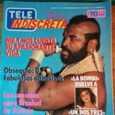 Coleccionismo de Revistas y Periódicos: TELEINDISCRETA Nº 36, COMPLETA, MR T, LA BOMBI, EQUIPO A,DRAGONES Y MAZMORRAS, TELE-INDISCRETA. Lote 145056666