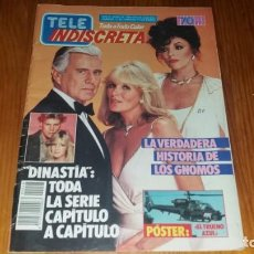 Coleccionismo de Revistas y Periódicos: REVISTA TELE INDISCRETA NUMERO 48 AÑO 1985 CANTANTE ALASKA COLECCIONABLE DINASTÍA CON POSTER. Lote 145062642