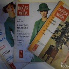 Coleccionismo de Revistas y Periódicos: 3 REVISTAS HOGAR Y MODA. Lote 145128810
