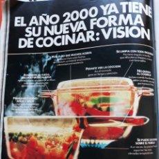 Coleccionismo de Revistas y Periódicos: ANUNCIO VISION COCINA. Lote 145134294