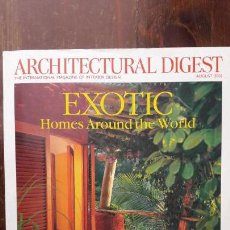 Coleccionismo de Revistas y Periódicos: ARCHITECTURAL DIGEST 2007 AUGUST - EXOTIC HOMES AROUND THE WORLD. Lote 145375570