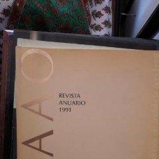 Coleccionismo de Revistas y Periódicos: REVISTA ANUARIO 1991. COLEGIO OFICIAL DE ARQUITECTOS DE ANDALUCÍA OCCIDENTAL. ARQUITECTURA. Lote 145419402