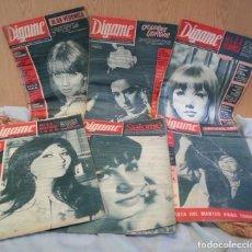 Coleccionismo de Revistas y Periódicos: REVISTAS DÍGAME. AÑOS 60. 6 EJEMPLARES DIFERENTES.. Lote 145484926