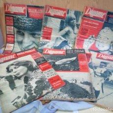 Coleccionismo de Revistas y Periódicos: REVISTAS DÍGAME. AÑOS 60. 6 EJEMPLARES DIFERENTES.. Lote 145485426