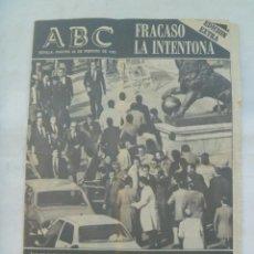Coleccionismo de Revistas y Periódicos: ABC , ESPECIAL 23 - F . EDICION EXTRA: FRACASO LA INTENTONA . 24 FEBRERO 1981. Lote 145618574
