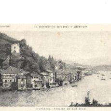 Coleccionismo de Revistas y Periódicos: GUIPÚZCOA GRABADO - PASAJES DE SAN JUAN- LA ILUSTRACIÓN ESPAÑOLA Y AMERICANA 1896. Lote 145802718